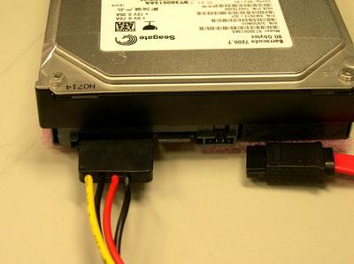 硬盘电源线接法图解